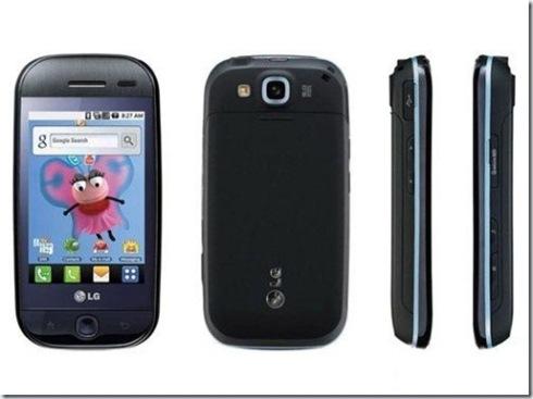 Handphone Andoid dari LG : LG GW620