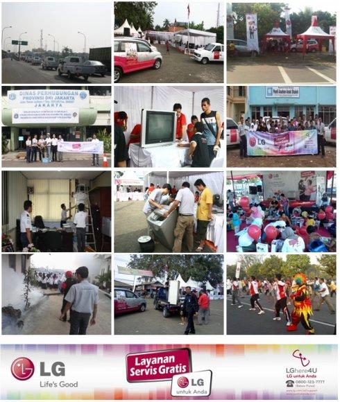 Gelegar CSR Servis LG untuk Anda