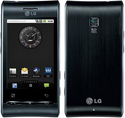 LG Optimus GT540 Menggunakan Android 1.6