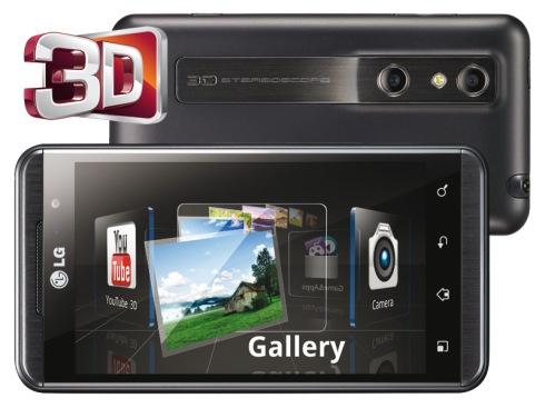 Dalam dual kamera sebesar 5 megapiksel beresolusi 2560 x 1920 piksel autofokus, LG Optimus 3D dapat menghasilkan foto dan video berformat 3D yang apik